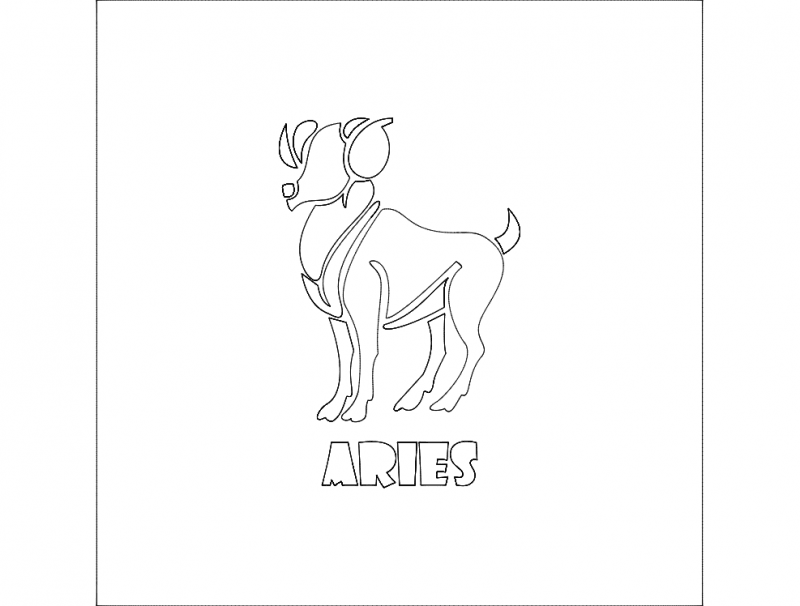 Aries dxf File