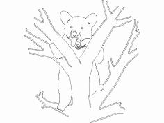 Bear 8 dxf File