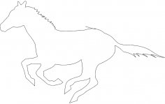 Horse Running Race dxf File
