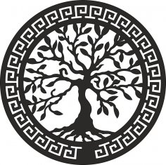 Olive Tree Laser Cut Wall Art EPS File