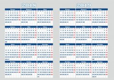2018-2019 Calendar Vector Art CDR File