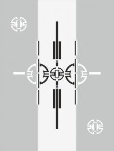 Modern Techno Sandblast Pattern