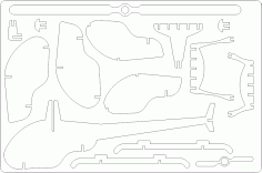 Helicopter 3D DXF File