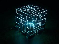 Alien Cube Big Lamp Laser Cut PDF File