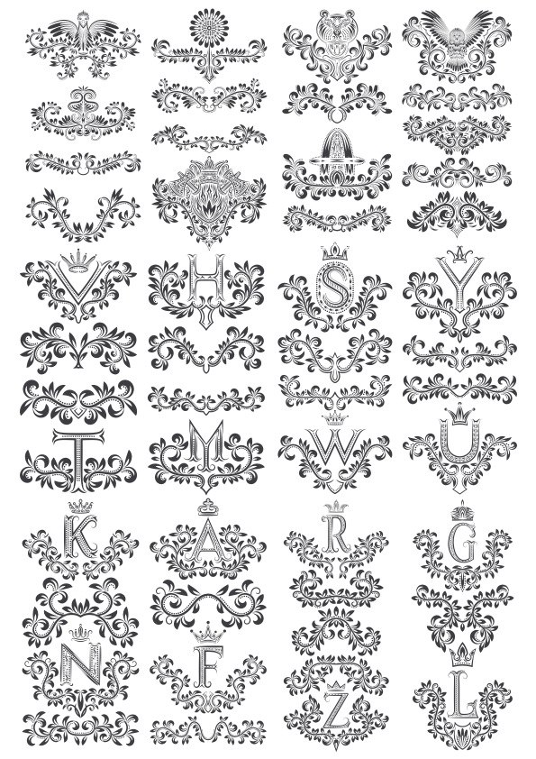Flower Floral Letters Design Free Vector