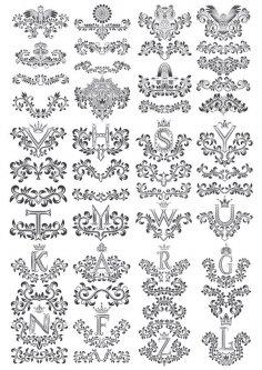 Flower Floral Letters Design