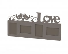 Love Frame Laser Cut Free Vector