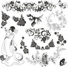 Japan Vector Ornament Free Vector