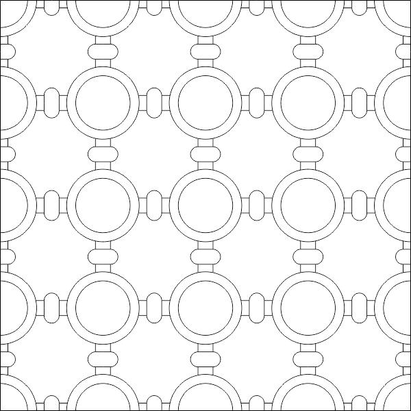 Simple Islamic Pattern DWG File