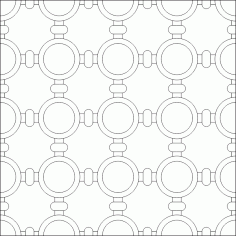 Simple Islamic Pattern DWG File