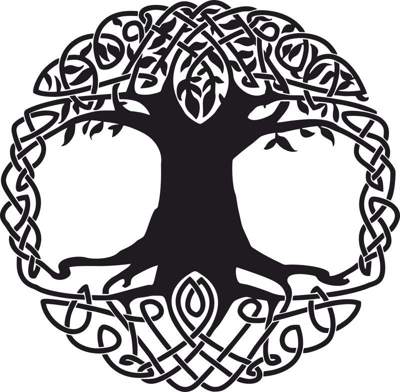 Celtic Tree Tattoo Design Free Vector