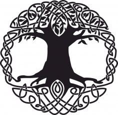 Celtic Tree Tattoo Design CDR File