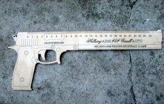 Gun-Shaped Ruler Free Vector
