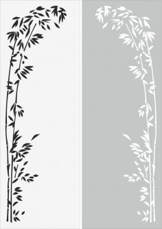 Decorative floral border ornament sandblast pattern CDR File
