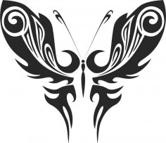 Tribal Butterfly Vector Art 50 DXF File