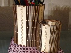Wooden pen stand 3mm DXF File