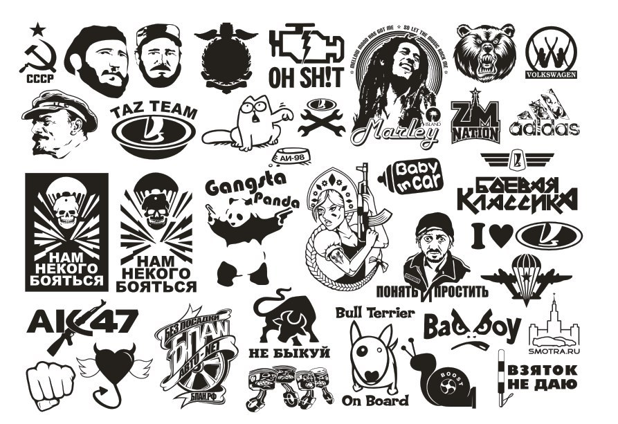 Vector Clipart Car Stickers Free Vector