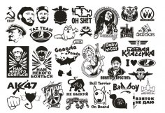 Vector Clipart Car Stickers CDR File