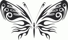 Stylized Vector Butterfly DXF File