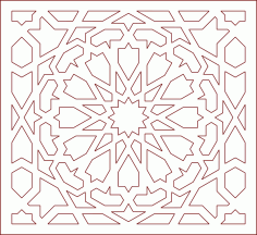 Arabic art design pattern DXF File