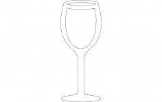 Wine Glass dxf File