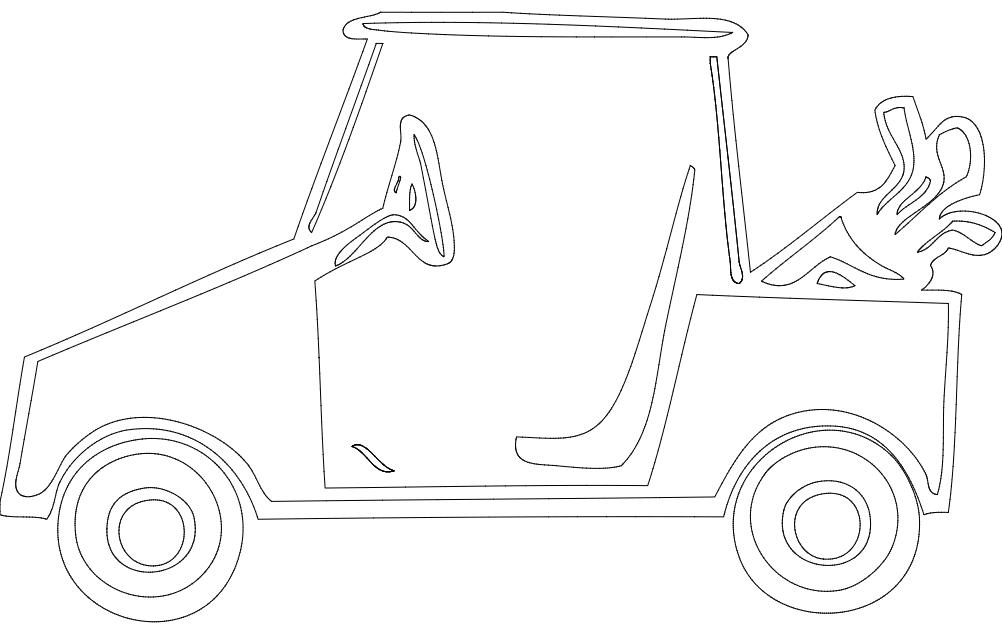 Golf Cart dxf File
