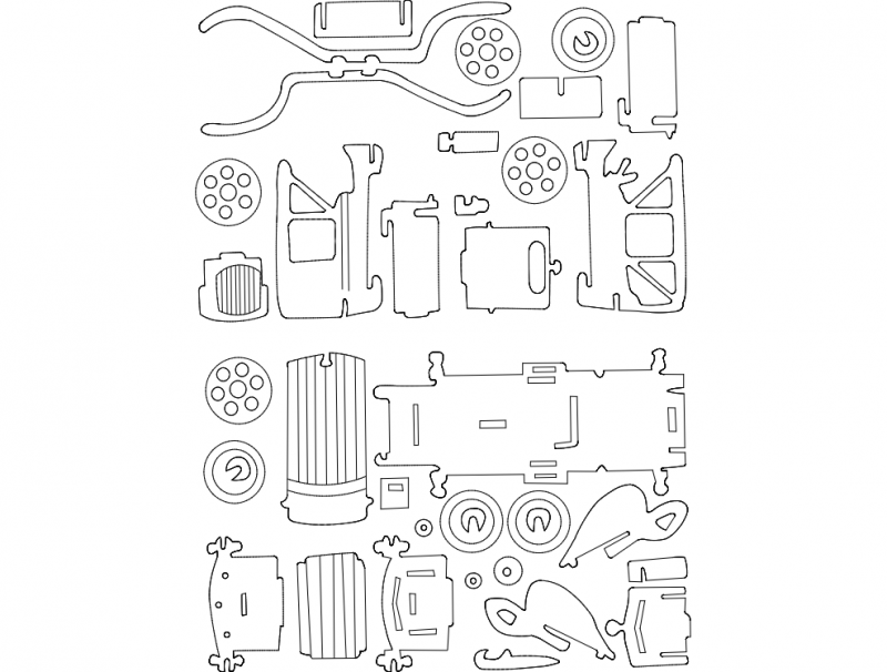 old car dxf file free download