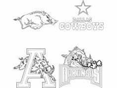 Arkansas Razorbacks Dallas Cowboys dxf File