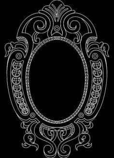 Mirror Frame 0554 dxf File