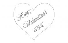 Valentine  dxf File