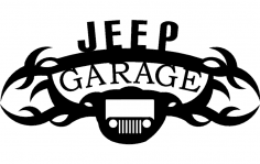 Jeep garage dxf File
