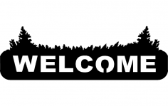 Welcome Sign dxf File