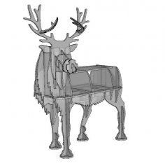 Deer 2D animals design plan 10mm CDR File