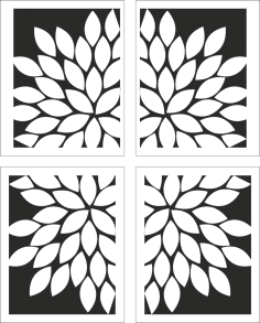 White Floral Artwork Free Vector