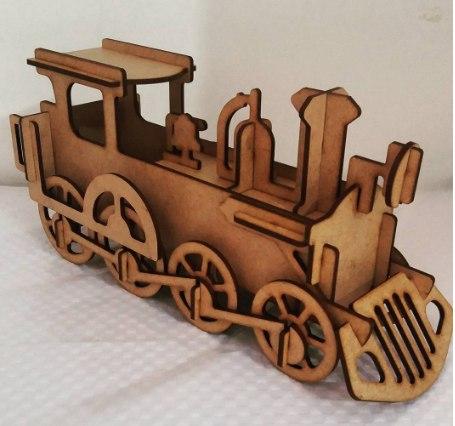 Locomotiva 3d Free Vector