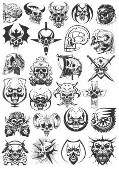 Skulls Dead Heads Free Vector