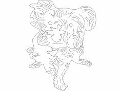 Dog Line art dxf File