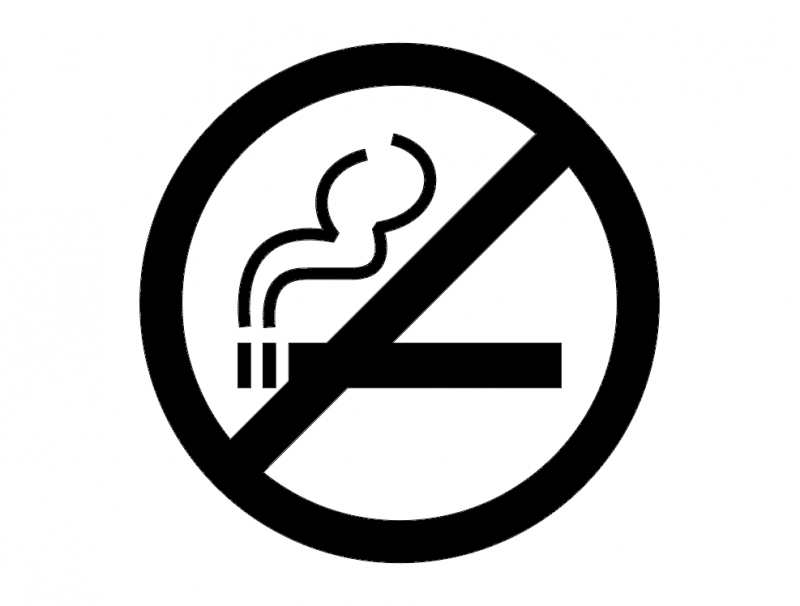 No smoking sign dxf File
