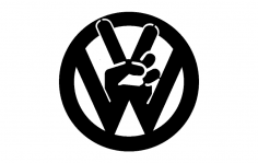 Vw Peace Tabs dxf File