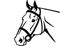 Horse Face dxf File