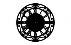 Roman Numerall Clock dxf File