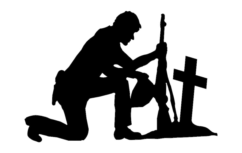 Soldier With Cross dxf File