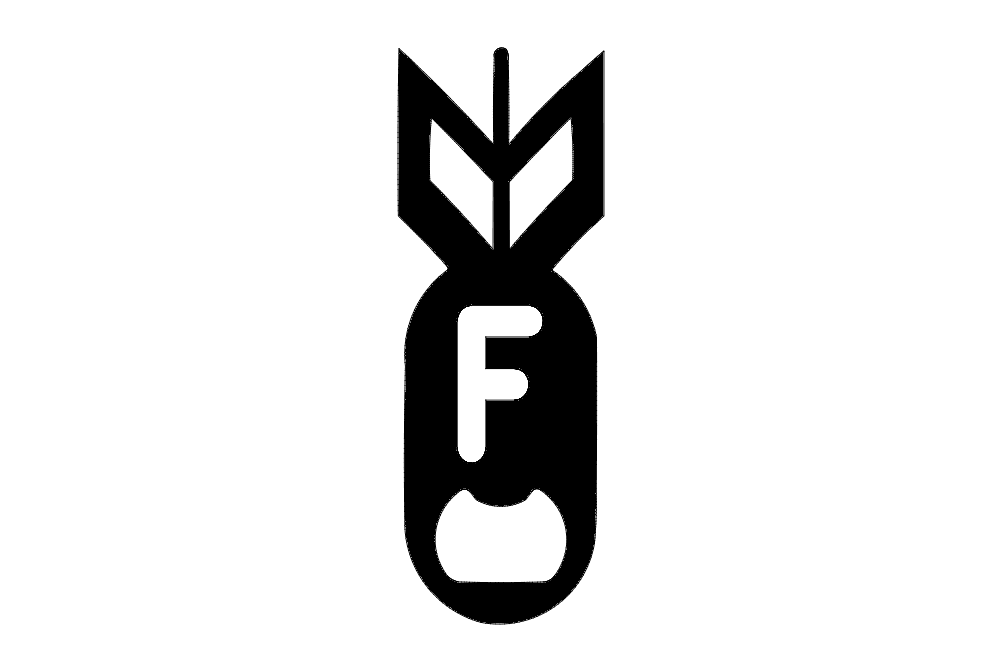 F  Bomb Bottel Opener 2 X 5.4 Fixed dxf File