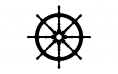 Ships wheel dxf File