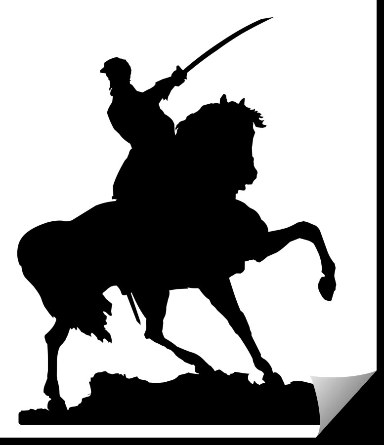 Mounted Cavalry Officer dxf file