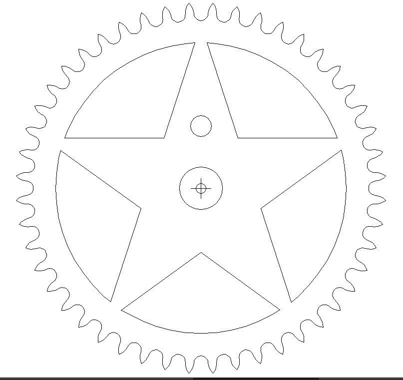 48_1 Star DXF File