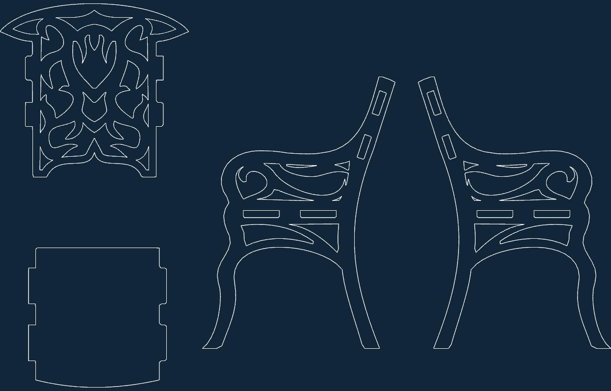 Fancy Chair dxf