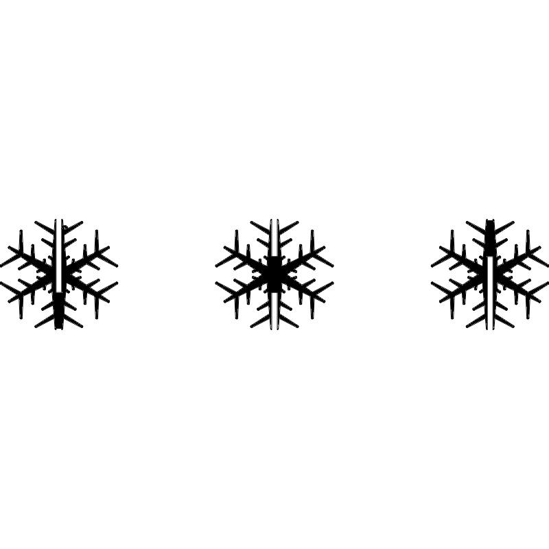 Snowflake Flocon 100mm dxf File