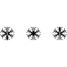 Snowflake Flocon 100mm dxf File