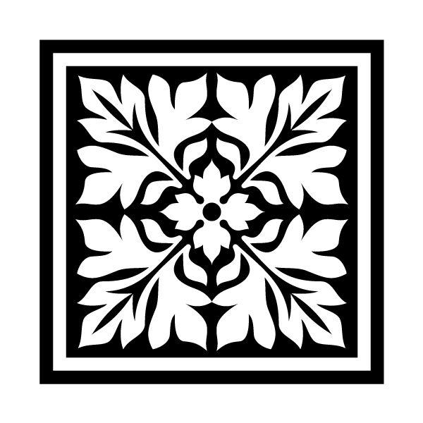 Vintage Square Ornament DXF File
